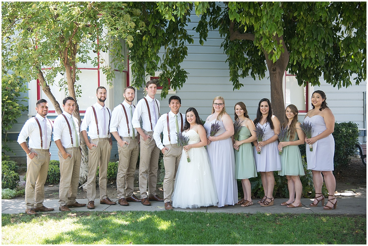 Classic Wedding at The Jack House Wedding In San Luis Obispo, California | Lavender and green