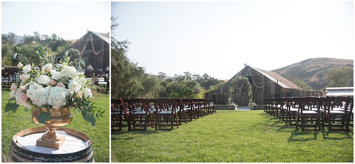 Natalie and Chris married at Higuera Ranch in San Luis Obispo, California navy and blush