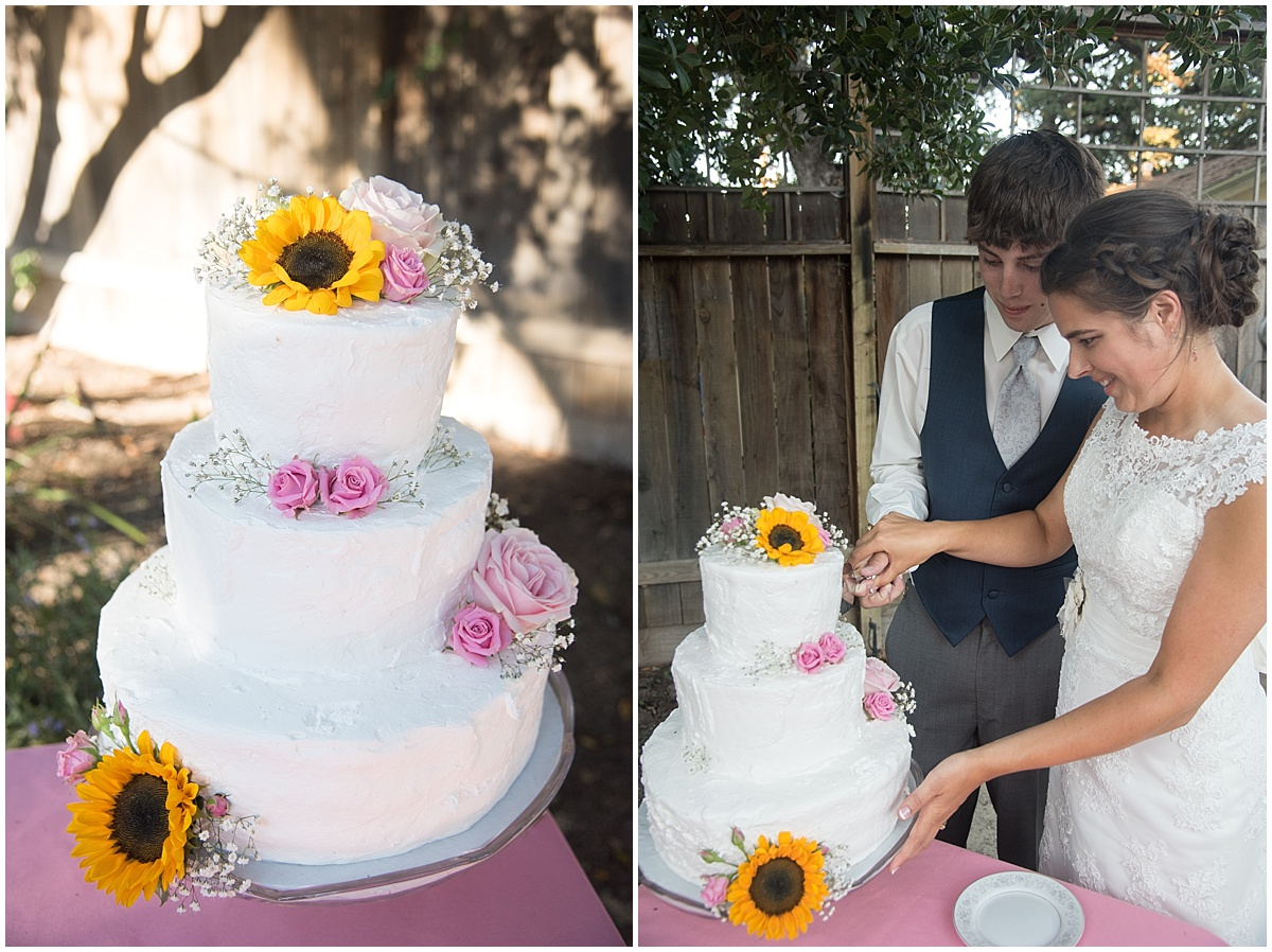 Paso Robles Wedding at Emily's House simple pinks