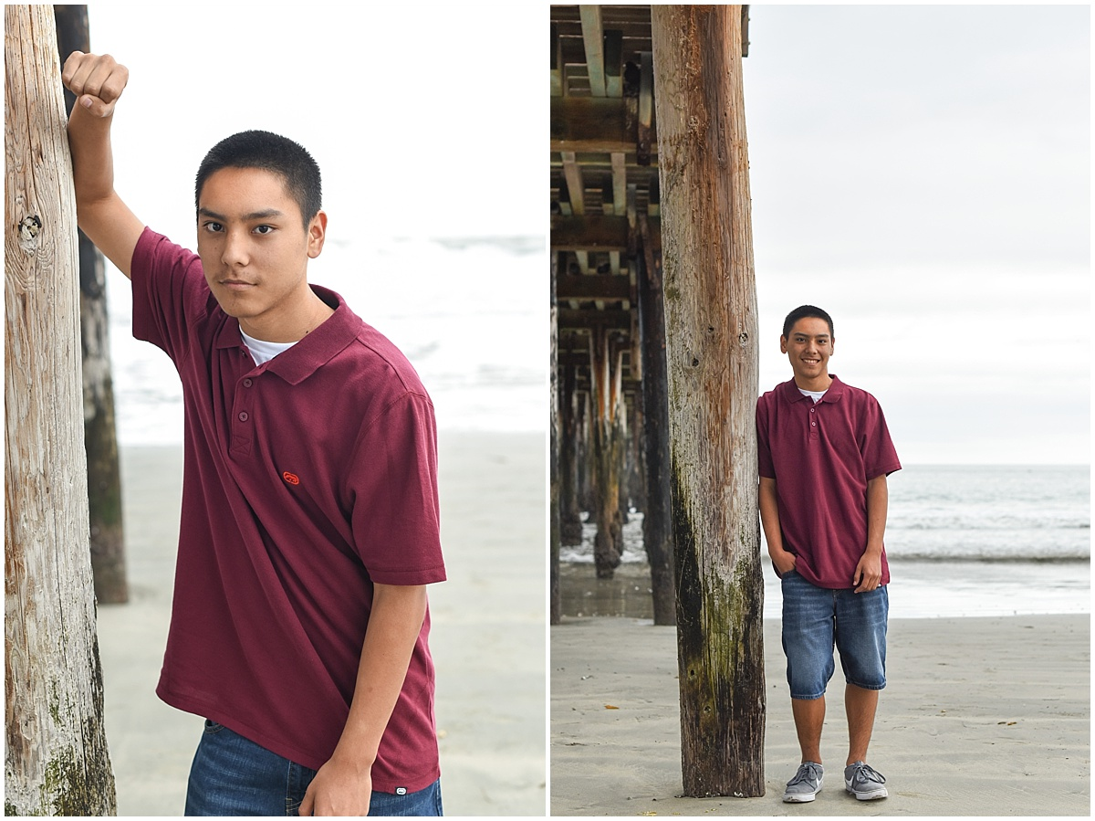 Paso Robles High School Senior Photos taken at Avila Beach on a cloudy day