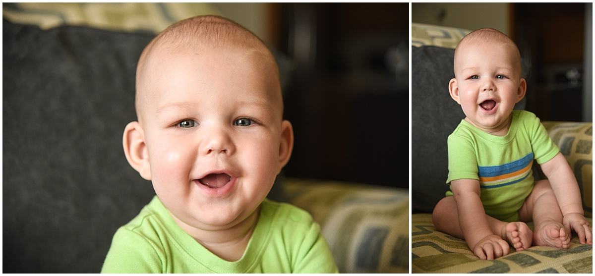 Six Month Old Baby Photography in Arroyo Grande, California in-home lifestyle session