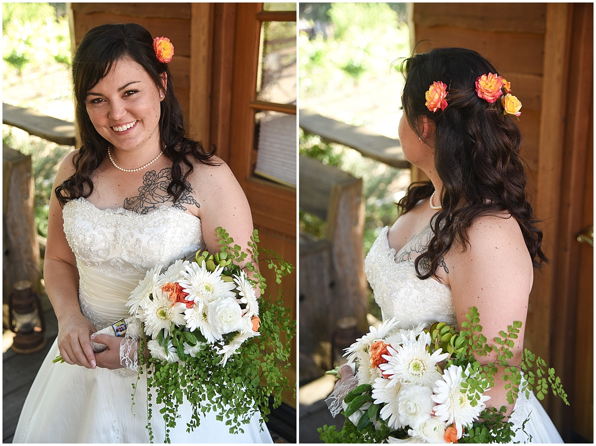 Still Waters Winery Spring Wedding in Paso Robles, California with greenery, garden flowers