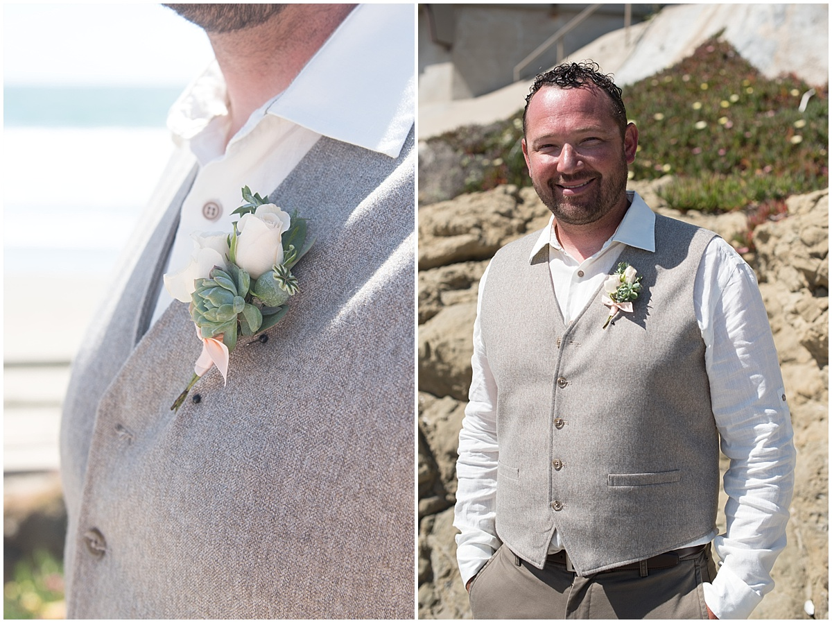Cayucos Beach House Wedding in Spring on the Central Coast of CA with pinks and succulents