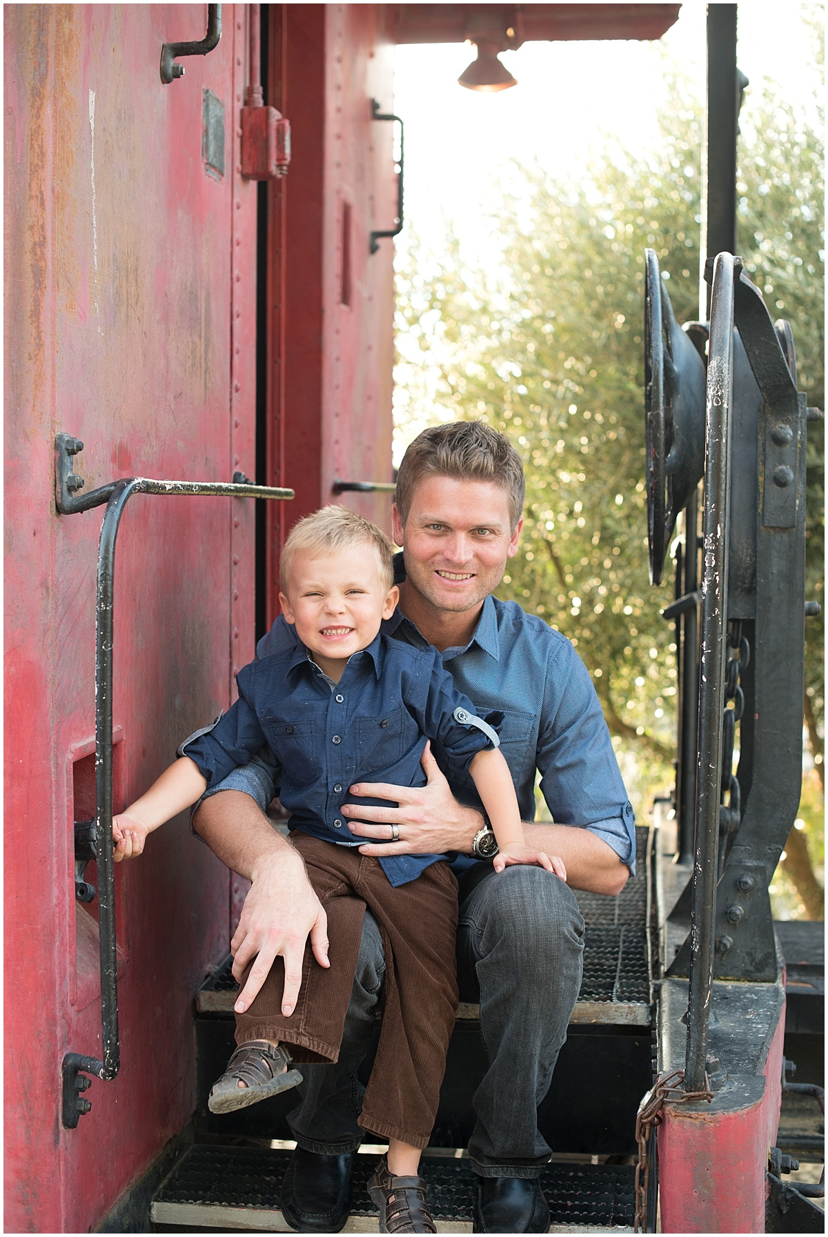 Father and Son at Pomar Junction in Paso Robles, CA