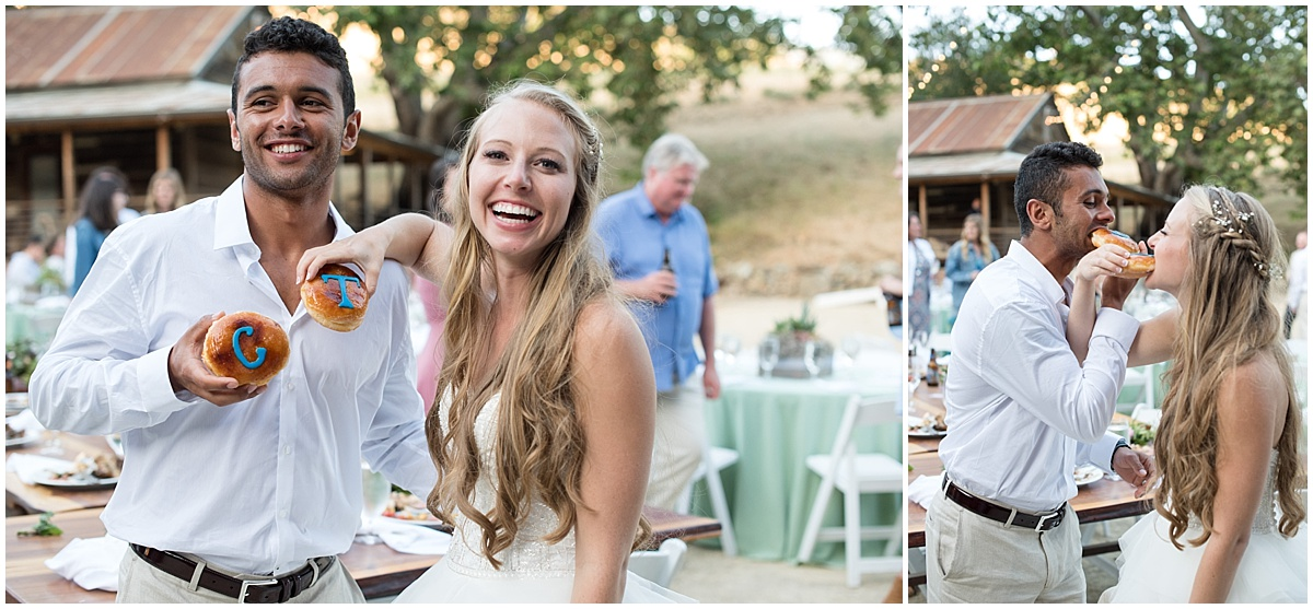La Cuesta Ranch Summer Wedding in San Luis Obispo with pinks, blues, and greenery