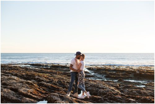 Engagement Photo by the Cliffs Resort in Shell Beach, CA