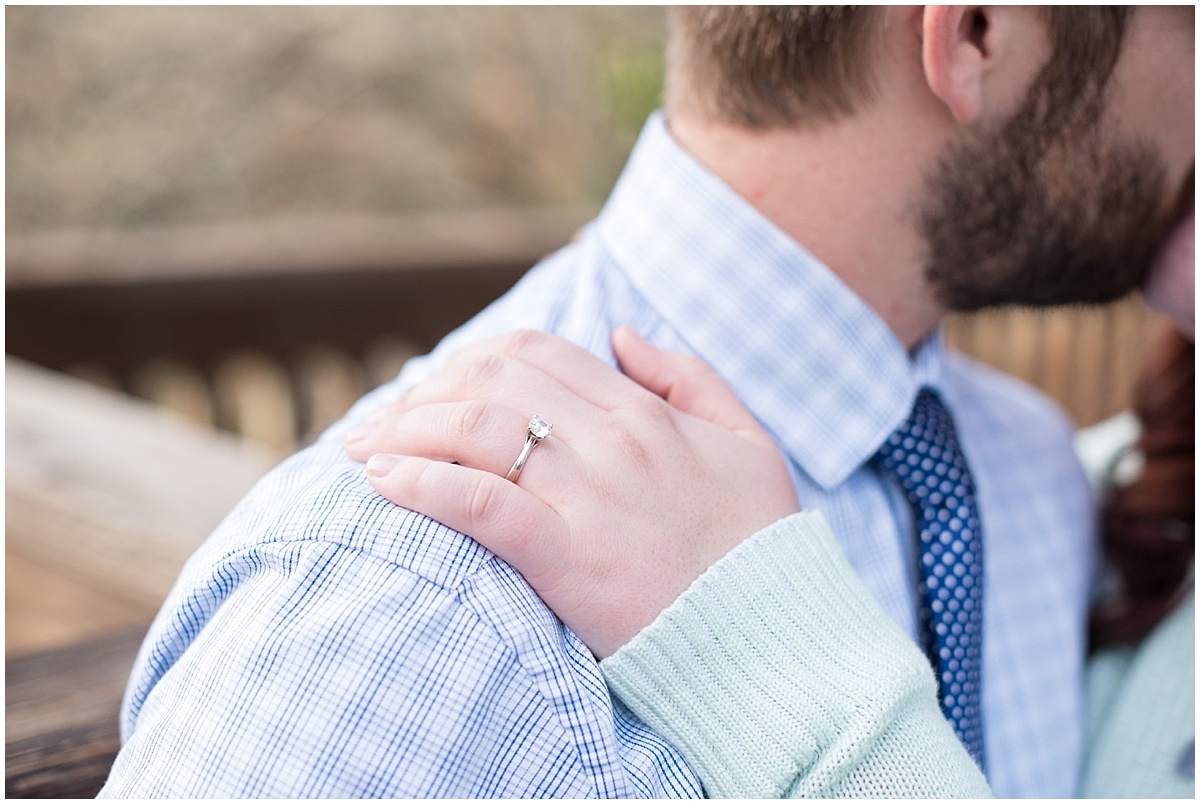 Downtown Arroyo Grande Village Winter Engagement Session with sweaters