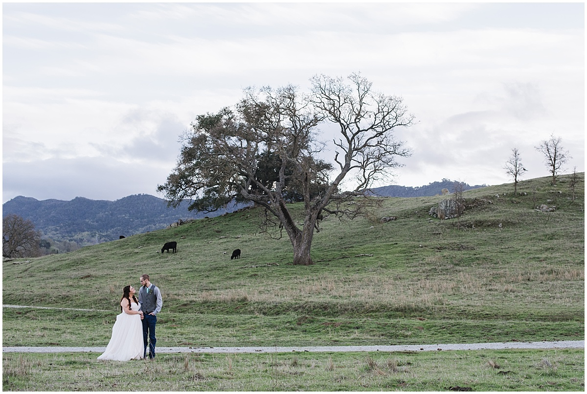 Spring Santa Margarita Ranch Wedding with greenery and aquas