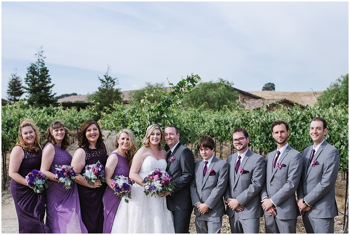 Pear valley Winery Summer Wedding with Purple Hues and cowboy boots