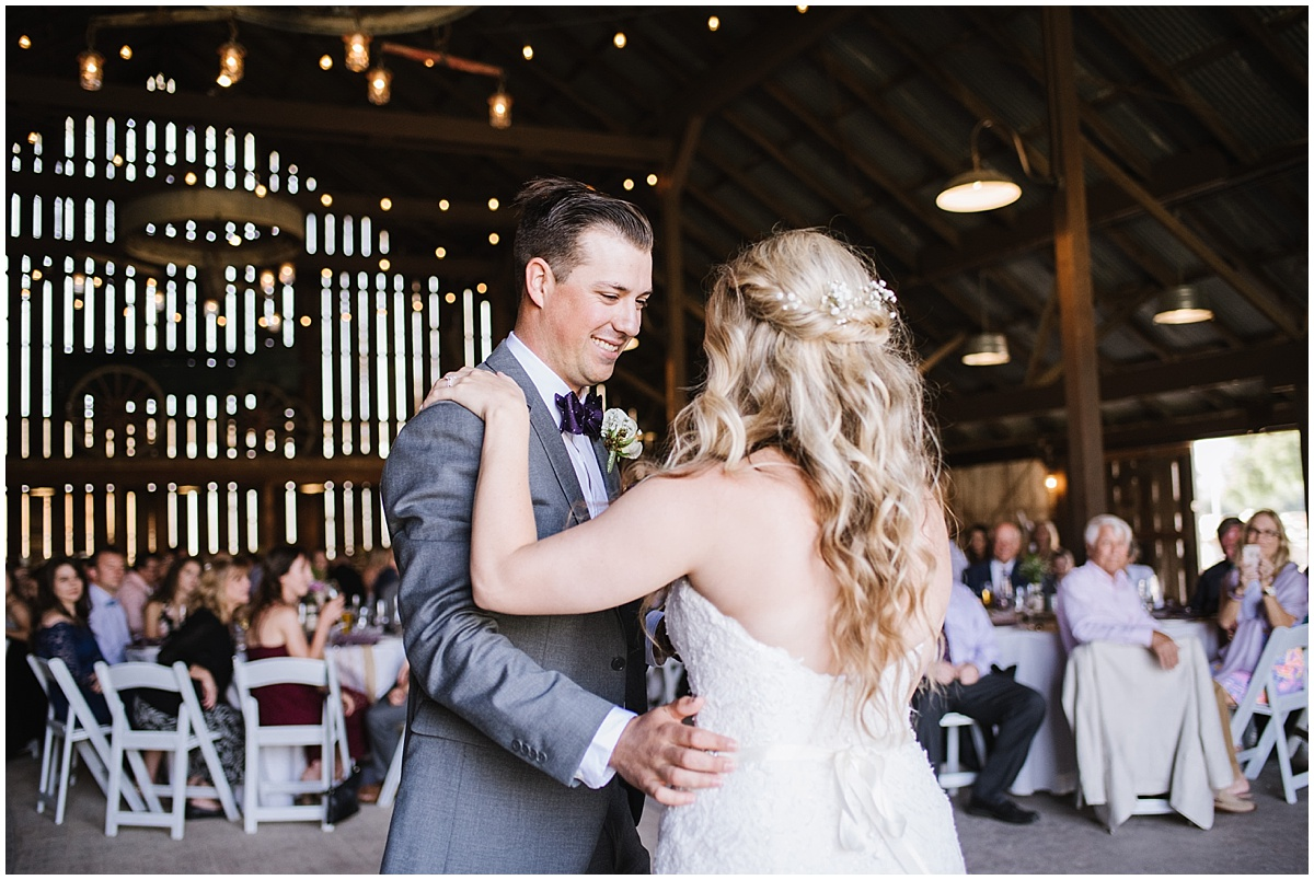 The White Barn Edna Valley in SLO, California summer purple and grey wedding