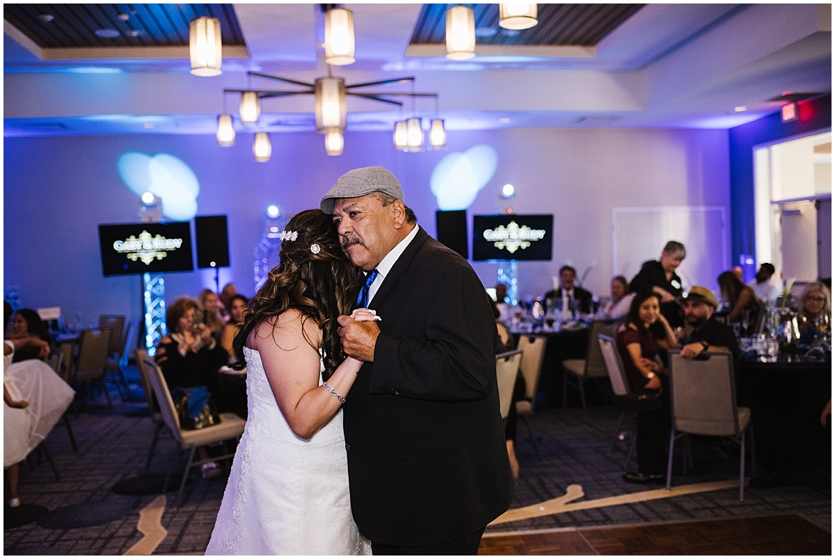 SpringHill Suites by Marriott Paso Robles Atascadero Summer Wedding Hispanic Royal Blue