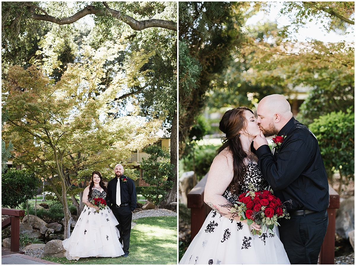 Paso Robles Inn Fall Wedding with Black and Red